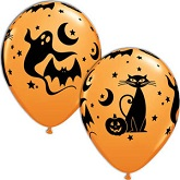"11"" Fun and Spooky Icons Balloons (50 Ct)"