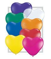 "6"" Heart Latex Balloons (100 Count) Jewel Assortment"