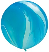 "30"" Blue Rainbow SuperAgate Balloons (2 Count)"