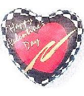 "2"" Airfill Happy Valentine's Day Checkerboard"