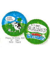 "18"" Happy Birthday Swearing Cow (BS)(Adult Theme)"