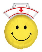 "28"" Smiley Nurse Shape Mylar Balloon"