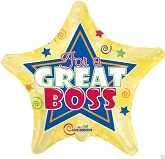 "18"" For A Great Boss star Mylar Balloon"
