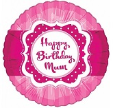 "18"" Happy Birthday Mum Pink"