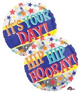"18"" It's Your Day Stars Balloon"