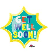 "35"" Jumbo Get Well Soon Burst Balloon"
