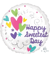"18"" Sweetest Day Hearts & Swirls Balloon"