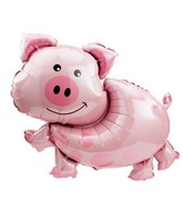 "35"" Large Farm Animal Pig Mylar Balloon"