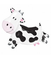 "30"" Large Farm Animal Cow Mylar Balloon"