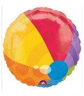 "18"" Beach Ball Shape Mylar Balloon ( Lighter Colors)"