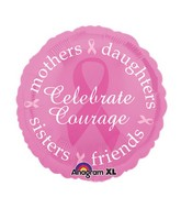 "18"" Celebrate Courage/BreastCancer Balloon"