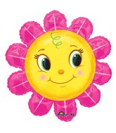 "36"" Smiley Pink Flower Shape balloon"