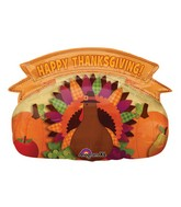 "30"" SuperShape Thanksgiving Banner Balloon"