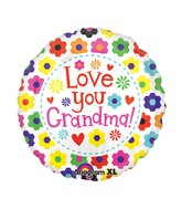 "21"" ColorBlast Love You Grandma Flowers Balloon"