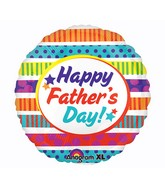 "21"" ColorBlast Happy Father's Day Stripes Balloon"