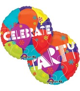 "21"" Celebrate Party Balloons Mylar Balloon"