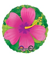 "28"" Jumbo Pink Tropical Hibiscus Balloon"