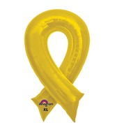 "36"" SuperShape Yellow Cause Ribbon Balloon"