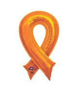 "36"" SuperShape Orange Cause Ribbon Balloon Packaged"