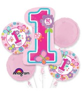 Bouquet Sweet Birthday Girl Balloon Packaged