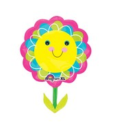 "29"" SuperShape Smiley Flower Balloon"