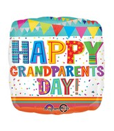 "18"" Happy Grandparents Day Confetti Balloon Packaged"