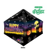 "21"" UltraShape Anglez Haunted Halloween Scene Packaged"