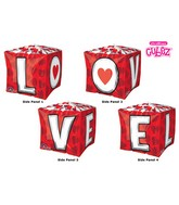 "15"" Cubez L-O-V-E Balloon Packaged"