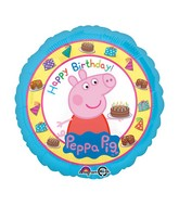 "18"" Peppa Pig Happy Birthday Balloon Packaged"