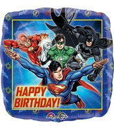 "18"" Justice League Happy Birthday Balloon Packaged"