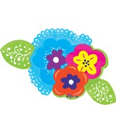 "40"" Jumbo Bright Flowers Balloon"