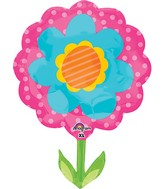"29"" Jumbo Spring Flower Pink & Blue Balloon"