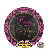 "28"" Singing Balloon Fabulous Celebration Packaged"