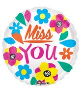 "21"" Junior Shape Miss You Balloon Packaged"