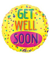"21"" Junior Shape Get Well Soon Paint Splatter Balloon"