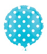 "18"" Caribbean Blue Dots Balloon"