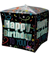 "15""Cubez Jumbo Brilliant Birthday Balloon Packaged"