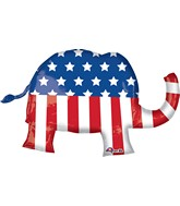 "40"" Jumbo Election Elephant Balloon Packaged"