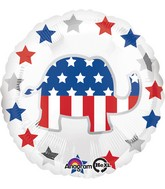 "18"" Election Elephant Balloon Packaged"
