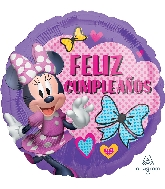 "18"" Minnie Happy Helpers Feliz Cumpleaños Balloon"