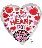 "29"" Singing Happy Heart Day Balloon"