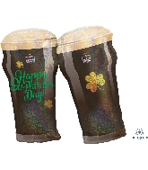 "28"" St. Patty's Beer Glasses Balloon"