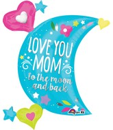 "32"" Jumbo SuperShape Love You Mom Moon Balloon"