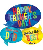 "26"" Jumbo SuperShape Happy Father's Day Message"