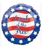 "18"" Patriotic Land Of the Free Balloon"