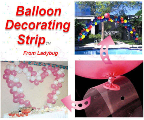 Balloon Decorating Strip Ideas