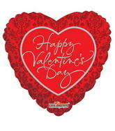 "4"" Happy Valentine's Day Balloon Classic Pattern"
