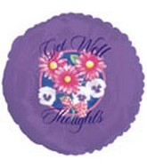 "18"" Get Well Thoughts Purple"