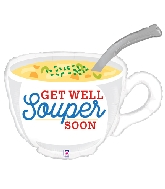 "31"" Foil Shape Get Well Soup"