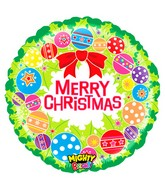 "21"" Mighty Bright Balloon Mighty Christmas Wreath"